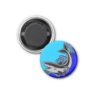 Shark Waves 1 Inch Round Magnet