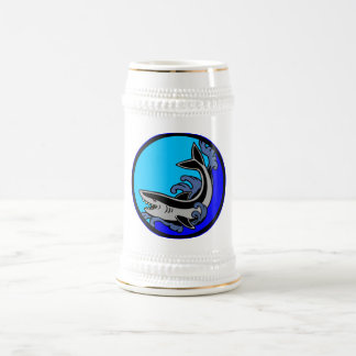 Shark Waves Beer Stein