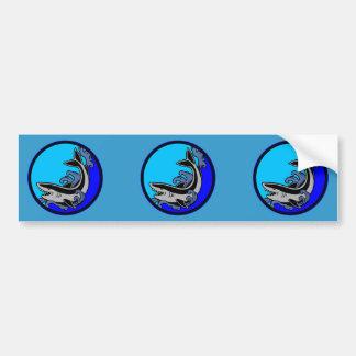 Shark Waves Car Bumper Sticker