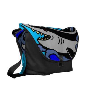 Shark Waves Courier Bag