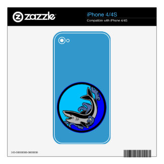 Shark Waves iPhone 4S Decal