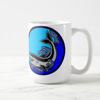 Shark Waves Classic White Coffee Mug