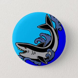 Shark Waves Pinback Button