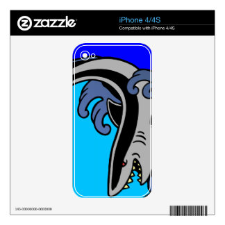 Shark Waves Skin For The iPhone 4