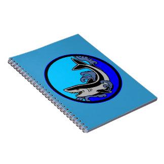 Shark Waves Spiral Notebook