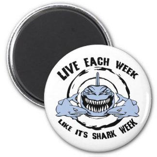 Shark Week 2 Inch Round Magnet