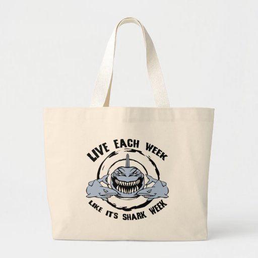 Shark Week Canvas Bags