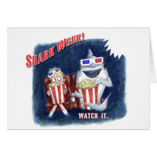 Shark Week postcard Stationery Note Card
