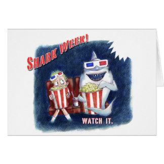 Shark Week postcard Cards