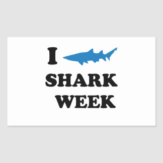 Shark Week Rectangular Sticker