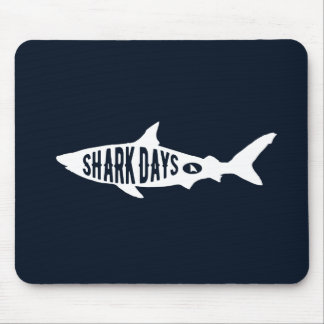 Shark Week Sharks Lover Gifts Typography Art Mouse Pad