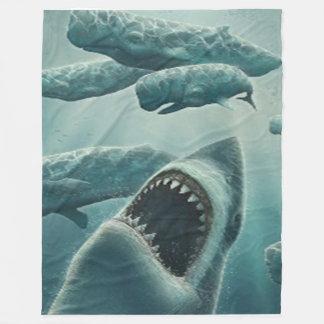 SHARK & WHALES FLEECE BLANKET
