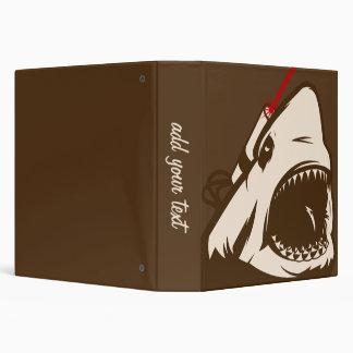 Shark with a Frickin' Laser Beam 3 Ring Binder