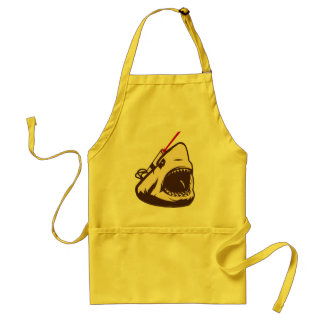 Shark with a Frickin' Laser Beam Adult Apron