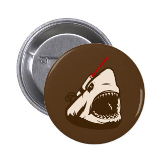 Shark with a Frickin' Laser Beam Pinback Buttons