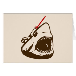 Shark with a Frickin' Laser Beam Greeting Cards