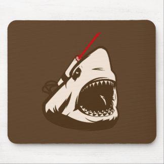 Shark with a Frickin Laser Beam Mousepads