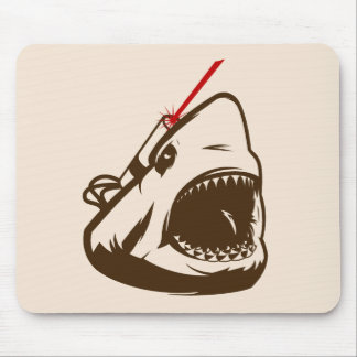 Shark with a Frickin Laser Beam Mouse Pads
