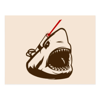 Shark with a Frickin' Laser Beam Postcard