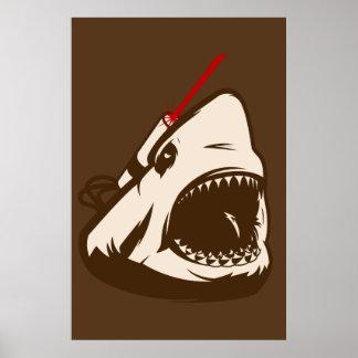 Shark with a Frickin' Laser Beam Poster