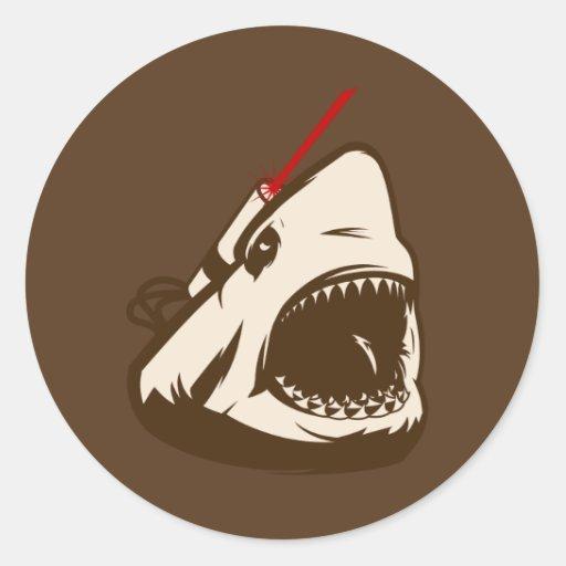 Shark with a Frickin' Laser Beam Classic Round Sticker