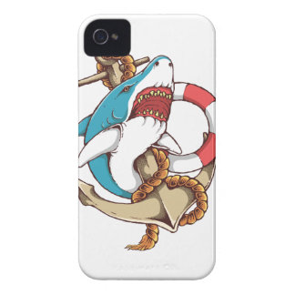 Shark With Anchor Tattoo Style Art Case-Mate iPhone 4 Case