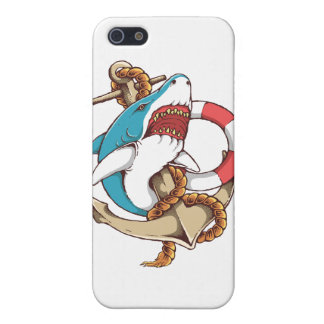 Shark With Anchor Tattoo Style Art iPhone SE/5/5s Cover