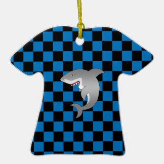Shark with blue checkers ornaments