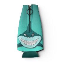Shark with gradient background bottle cooler