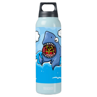 Shark with insulated water bottle