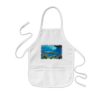 Shark with Reef Children's Apron