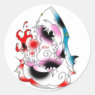 shark you stikka stickers