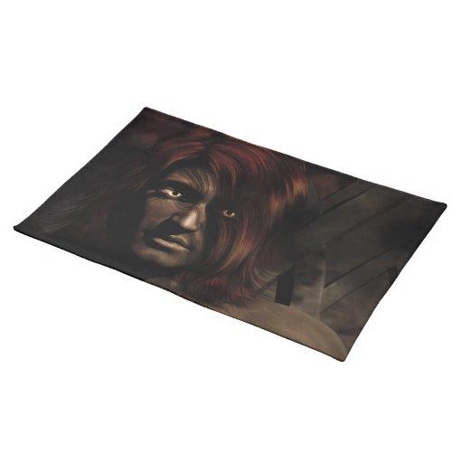 Shar'Ka Demon King Fantasy Art Cloth Placemat