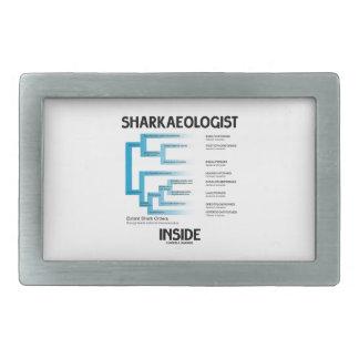 Sharkaeologist Inside (Shark Order Lineage) Rectangular Belt Buckle