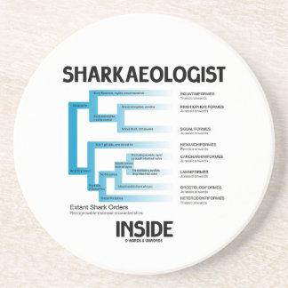 Sharkaeologist Inside (Shark Order Lineage) Drink Coaster