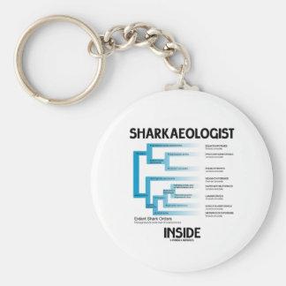 Sharkaeologist Inside (Shark Order Lineage) Key Chains