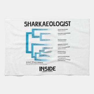 Sharkaeologist Inside (Shark Order Lineage) Kitchen Towels