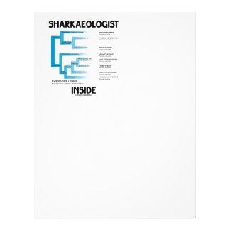 Sharkaeologist Inside (Shark Order Lineage) Letterhead Template