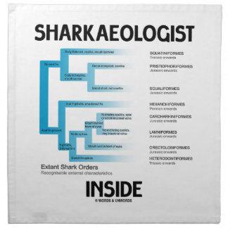 Sharkaeologist Inside (Shark Order Lineage) Printed Napkin