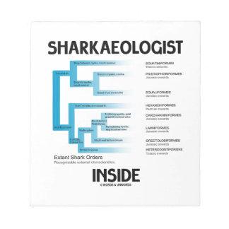 Sharkaeologist Inside (Shark Order Lineage) Memo Notepad