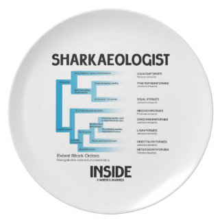 Sharkaeologist Inside (Shark Order Lineage) Dinner Plate