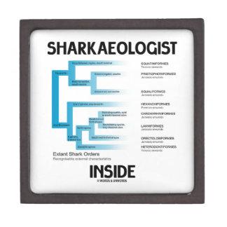 Sharkaeologist Inside (Shark Order Lineage) Premium Trinket Boxes