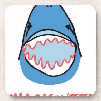 Sharkbite for Shark Week August 10-17 2014 in Blue Beverage Coasters