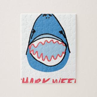 Sharkbite for Shark Week August 10-17 2014 in Blue Jigsaw Puzzle