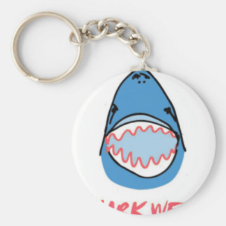 Sharkbite for Shark Week August 10-17 2014 in Blue Key Chain