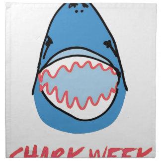 Sharkbite for Shark Week August 10-17 2014 in Blue Cloth Napkin