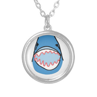 Sharkbite for Shark Week August 10-17 2014 in Blue Personalized Necklace