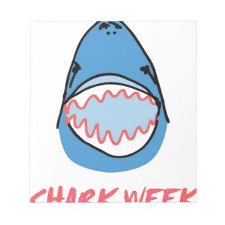 Sharkbite for Shark Week August 10-17 2014 in Blue Notepad