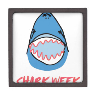 Sharkbite for Shark Week August 10-17 2014 in Blue Premium Jewelry Boxes