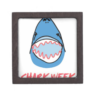 Sharkbite for Shark Week August 10-17 2014 in Blue Premium Jewelry Box